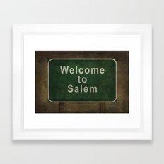 Welcome To Salem Framed Art Print