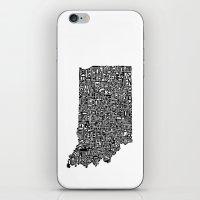 Typographic Indiana iPhone & iPod Skin