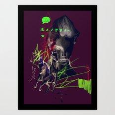 Running with horses Art Print