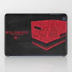 Metal Gear Solid Typography iPad Case
