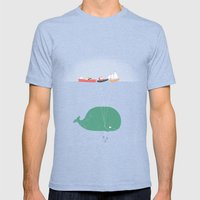 Whale Balloons  Mens Fitted Tee Tri-Blue SMALL