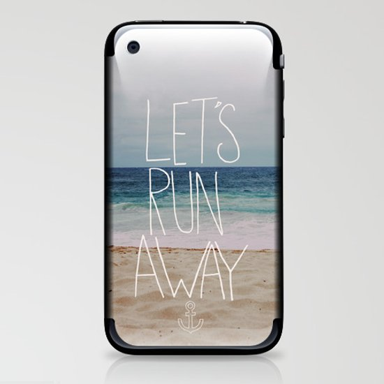 Let's Run Away: Sandy Beach, Hawaii iPhone & iPod Skin