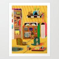 Game Room Mainframe Art Print