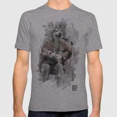 Howl at the Moon Mens Fitted Tee Athletic Grey SMALL