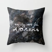 Everything Starts From A… Throw Pillow