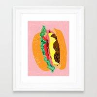 Burger, 2013. Framed Art Print