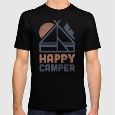 Happy Camper SMALL Black Mens Fitted Tee