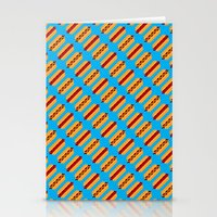 Pixel Hot Dogs Stationery Cards