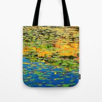 Lilly Pond In The Style … Tote Bag