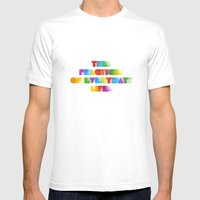 The Practice Of Everyday… Mens Fitted Tee White SMALL