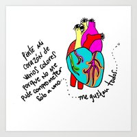 corazón de colores Art Print