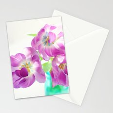 Violet Tulips Stationery Cards