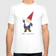Gnome Love White SMALL Mens Fitted Tee