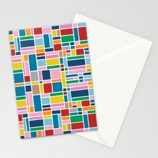 Stained Glass W Stationery Cards