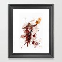 Lebron James Tribute Framed Art Print