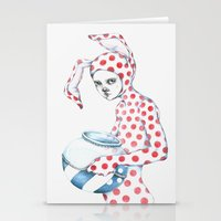 Red Dotted Bunny Stationery Cards