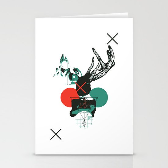 Girl with Horns Stationery Card