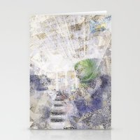 GREEN PIANOFORTE Stationery Cards