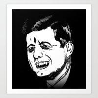 35. Zombie John F. Kennedy  Art Print