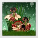 A shimmer of fairies Canvas Print