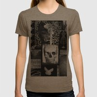 Crow And Lace Womens Fitted Tee Tri-Coffee SMALL