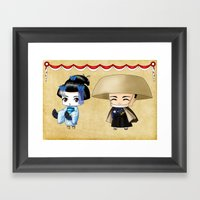Japanese Chibis Framed Art Print