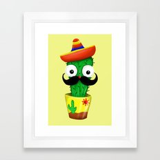 Mr Cactus Framed Art Print