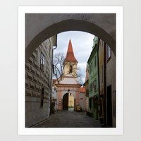 Little Town Czech Republic Art Print