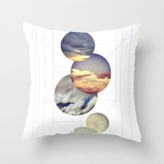 Mobile Sky Throw Pillow