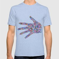 Hand  Mens Fitted Tee Athletic Blue SMALL