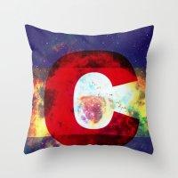 Colorado Flag/Galaxy Pri… Throw Pillow