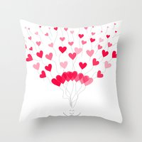 Be Mine :) Throw Pillow