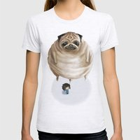 The Pug Womens Fitted Tee Ash Grey SMALL