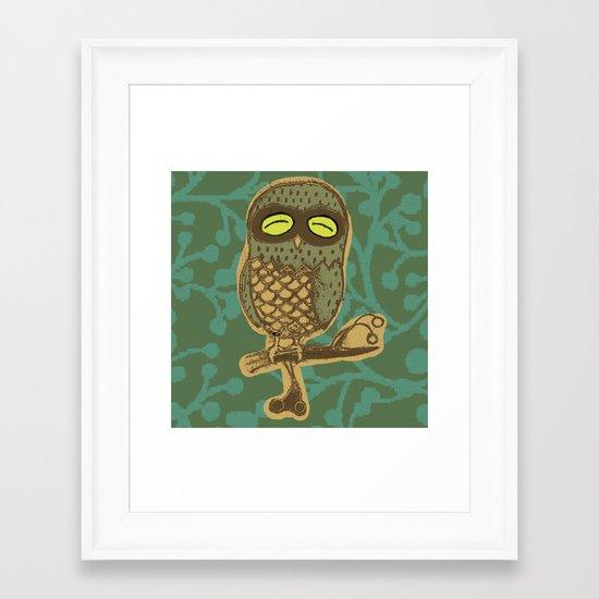 Retro Owl Framed Art Print