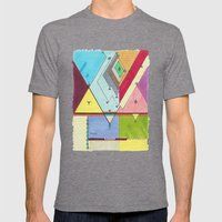 Prism # 1 Mens Fitted Tee Tri-Grey SMALL