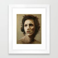 study of an angel Framed Art Print