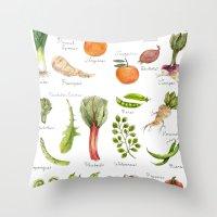 Calendar-January thru June Throw Pillow