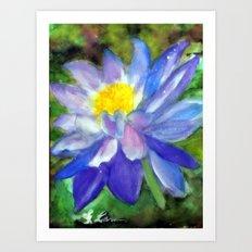 Blue Violet Lotus flower Art Print