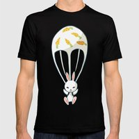 Parachute Bunny Mens Fitted Tee Black SMALL