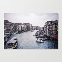 Faded Memories: Grand Canal Canvas Print
