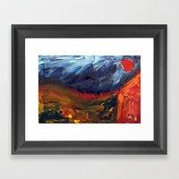 Expressionist Landscape Framed Art Print