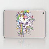 Flying Rainbow skull Island Laptop & iPad Skin
