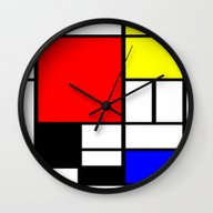 Mondrian Wall Clock