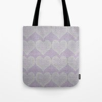 Heart Fabric Tote Bag