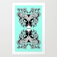 Octopus Mirrored Art Print