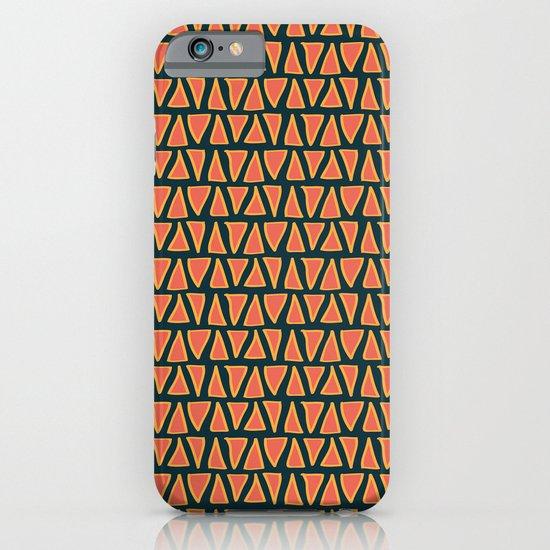 Desert Triangles - Geometric Orange and Blue Pattern iPhone & iPod Case