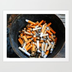 Smokers Addiction Art Print