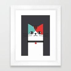 A Cat! Framed Art Print