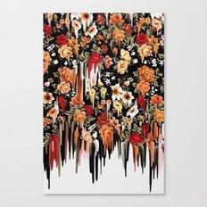 Free Falling, melting floral pattern Canvas Print