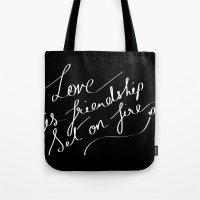 LOVE & FIRE Tote Bag